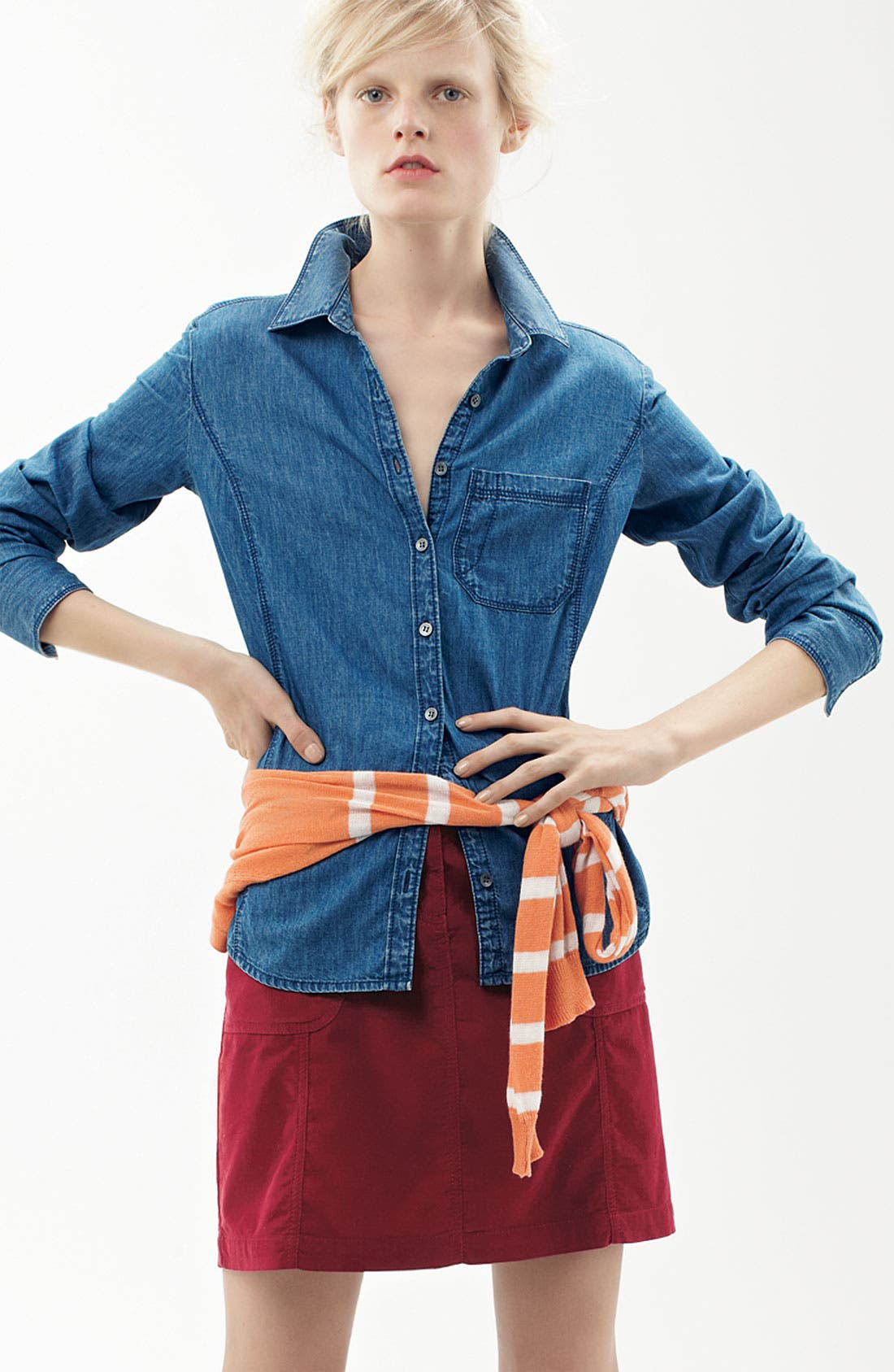 Alternate Image 3  - Caslon® Corduroy Skirt