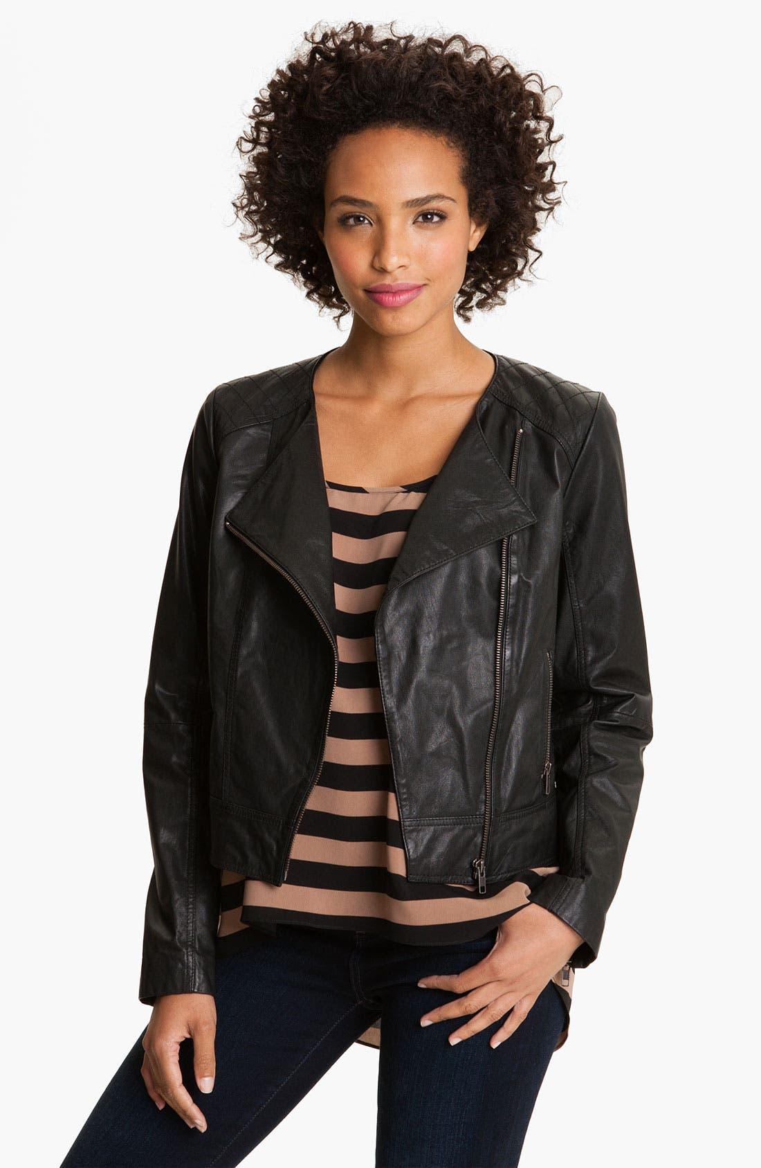 Main Image - Caslon® Leather Jacket