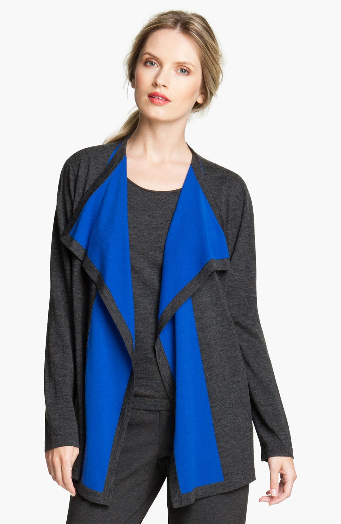 Main Image - Lafayette 148 New York Colorblock Intarsia Cardigan