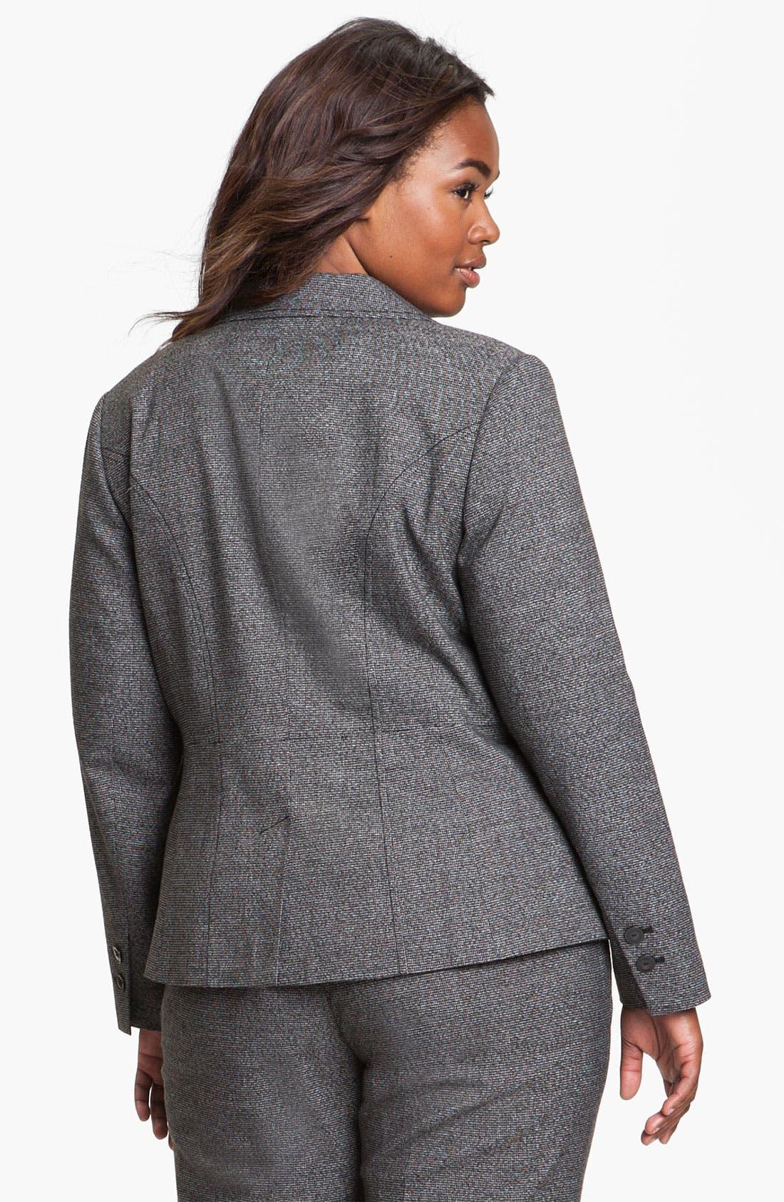 Alternate Image 2  - Sejour Herringbone Suit Jacket (Plus)