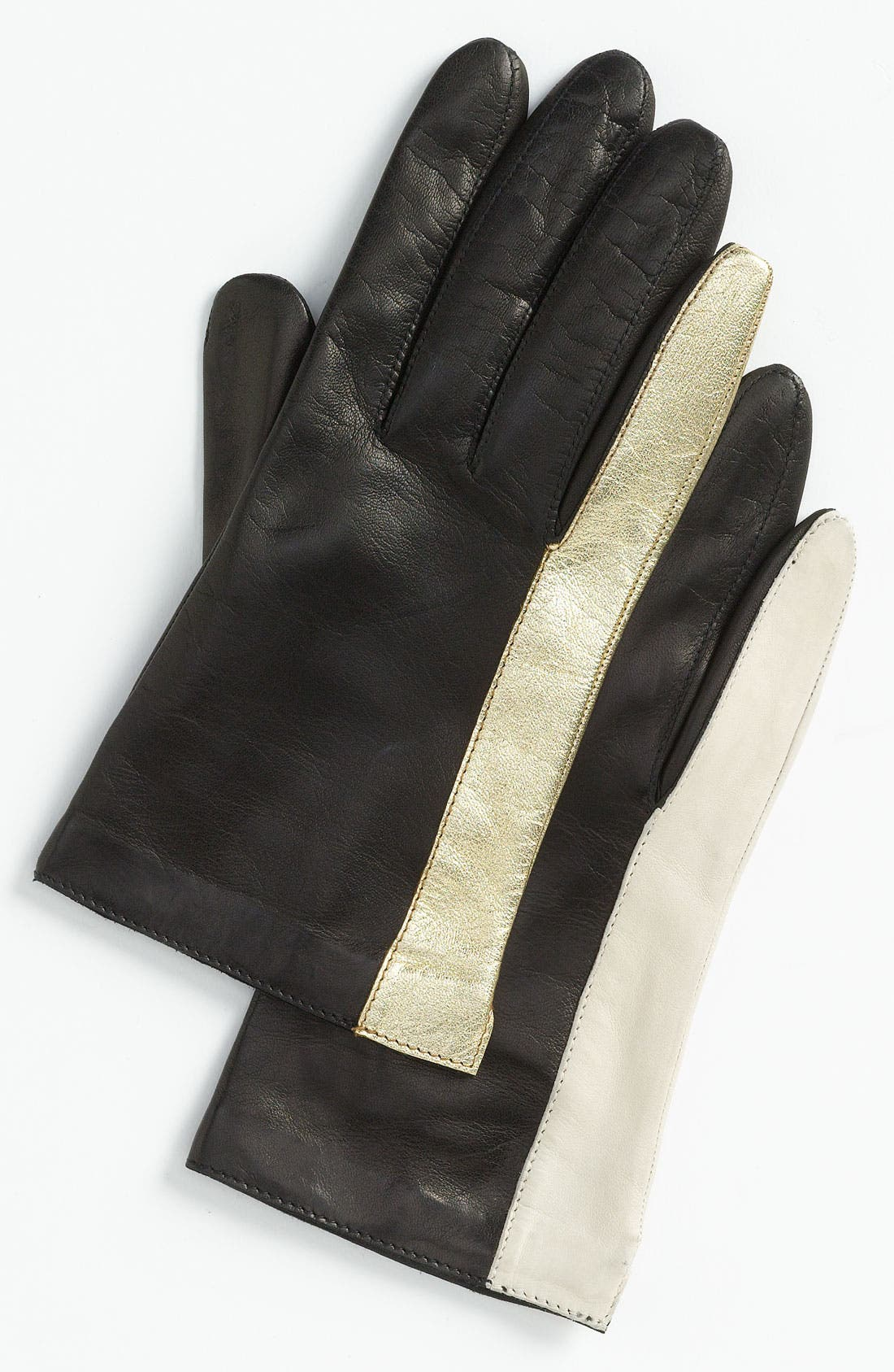 Main Image - Diane von Furstenberg Colorblock Leather Gloves