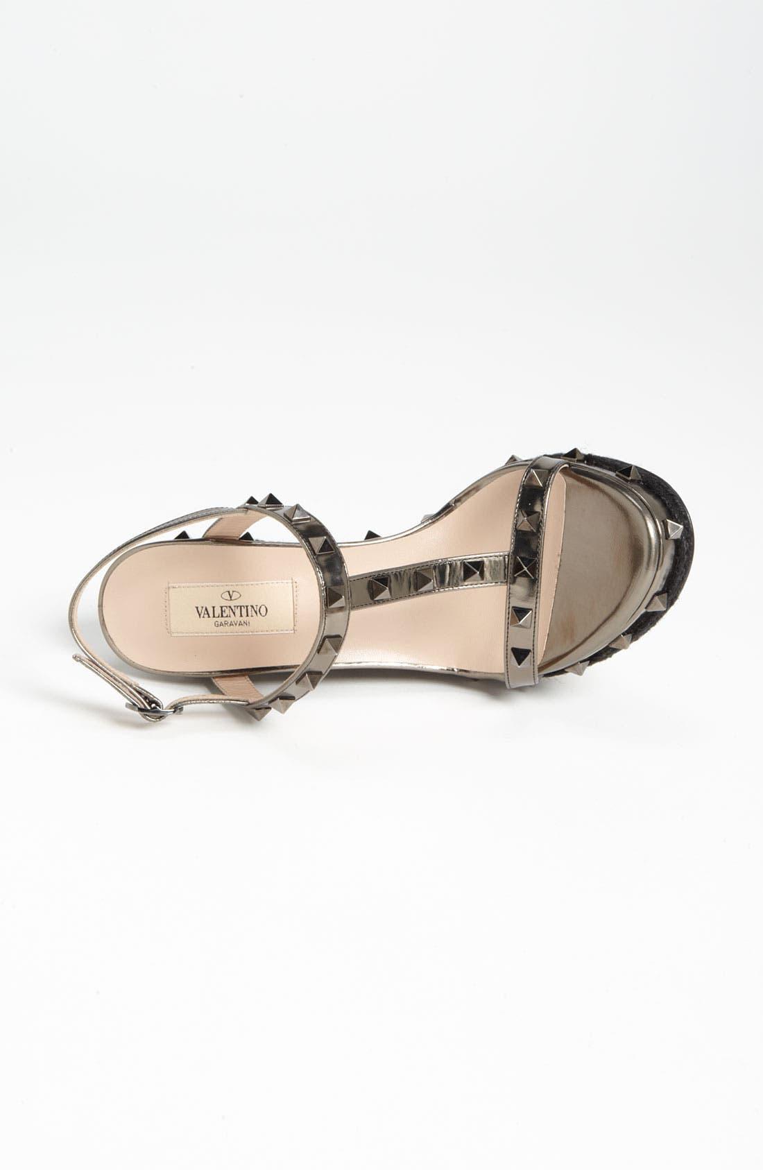 Alternate Image 3  - VALENTINO GARAVANI 'Rockstud' Wedge Sandal