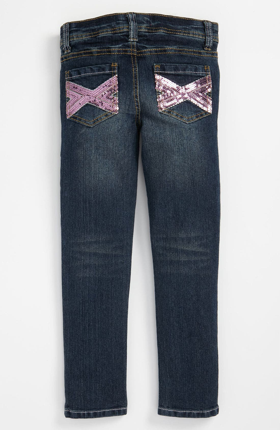 Main Image - Freestyle Revolution Sequin Skinny Jeans (Little Girls)