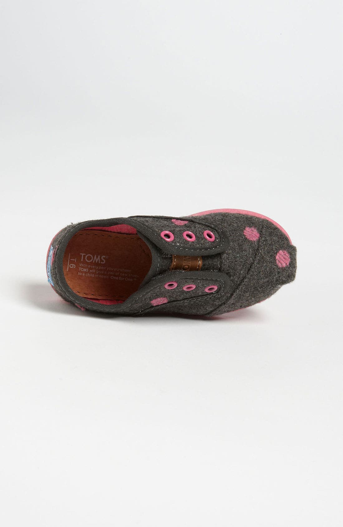 Alternate Image 3  - TOMS 'Cordones - Tiny' Wool Slip-On (Baby, Walker & Toddler)