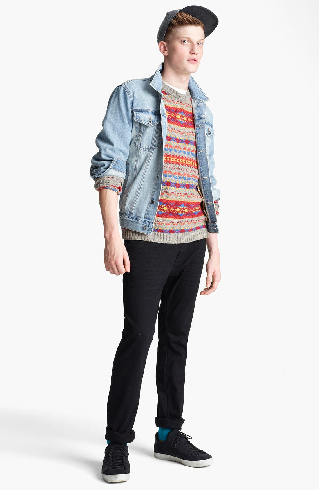 Alternate Image 4  - Topman 'Cavendish' Denim Jacket