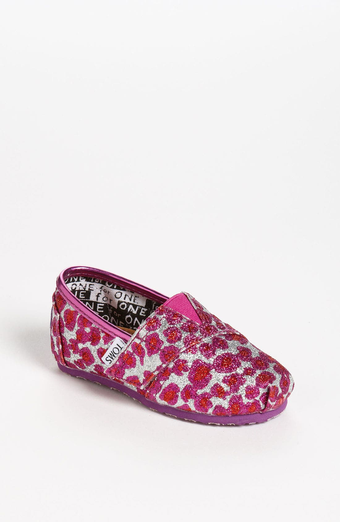 Main Image - TOMS 'Classic Tiny - Glitter' Slip-On (Baby, Walker & Toddler)