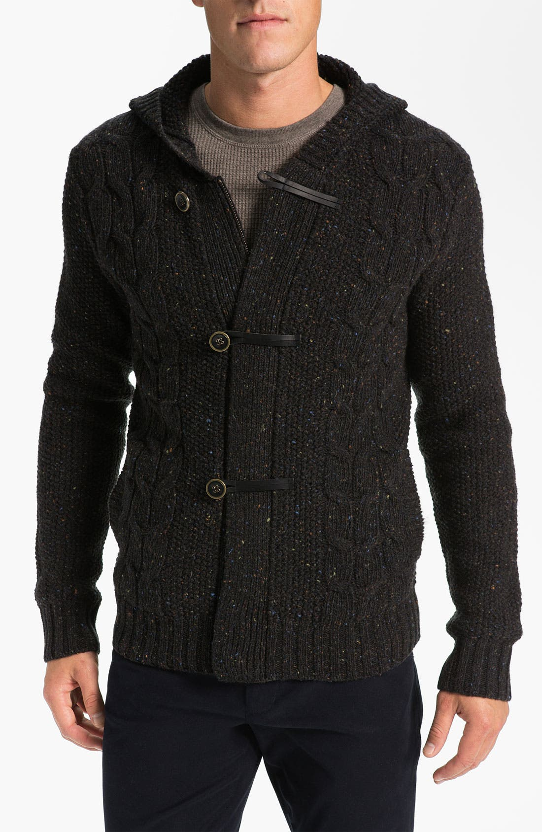 Alternate Image 1 Selected - Vince Knit Hooded Sweater