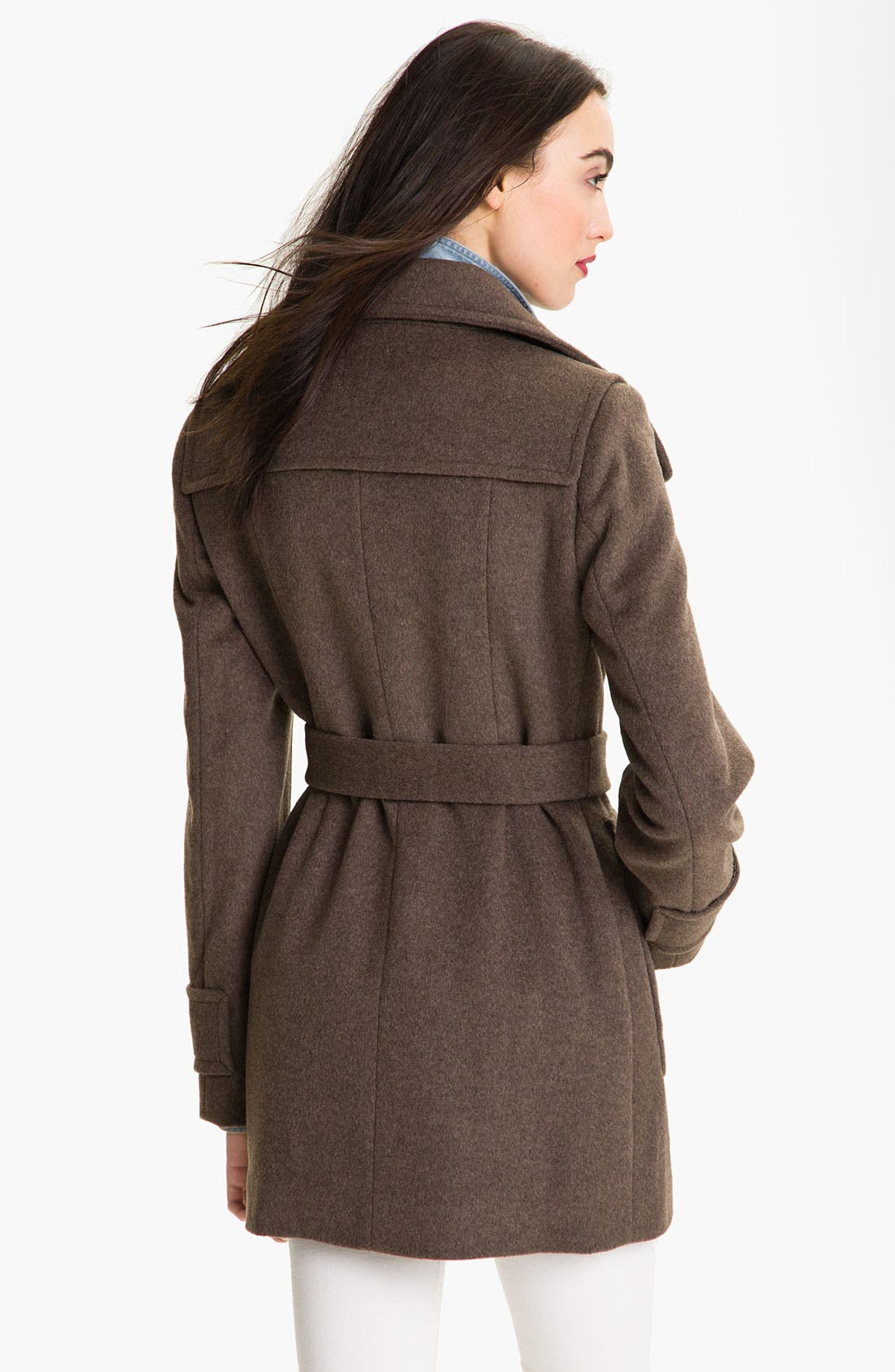 Alternate Image 2  - Calvin Klein Convertible Collar Double Breasted Coat