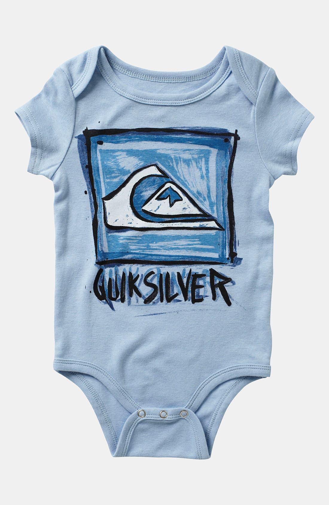 Alternate Image 2  - Quiksilver Bodysuit (2-Pack) (Infant)
