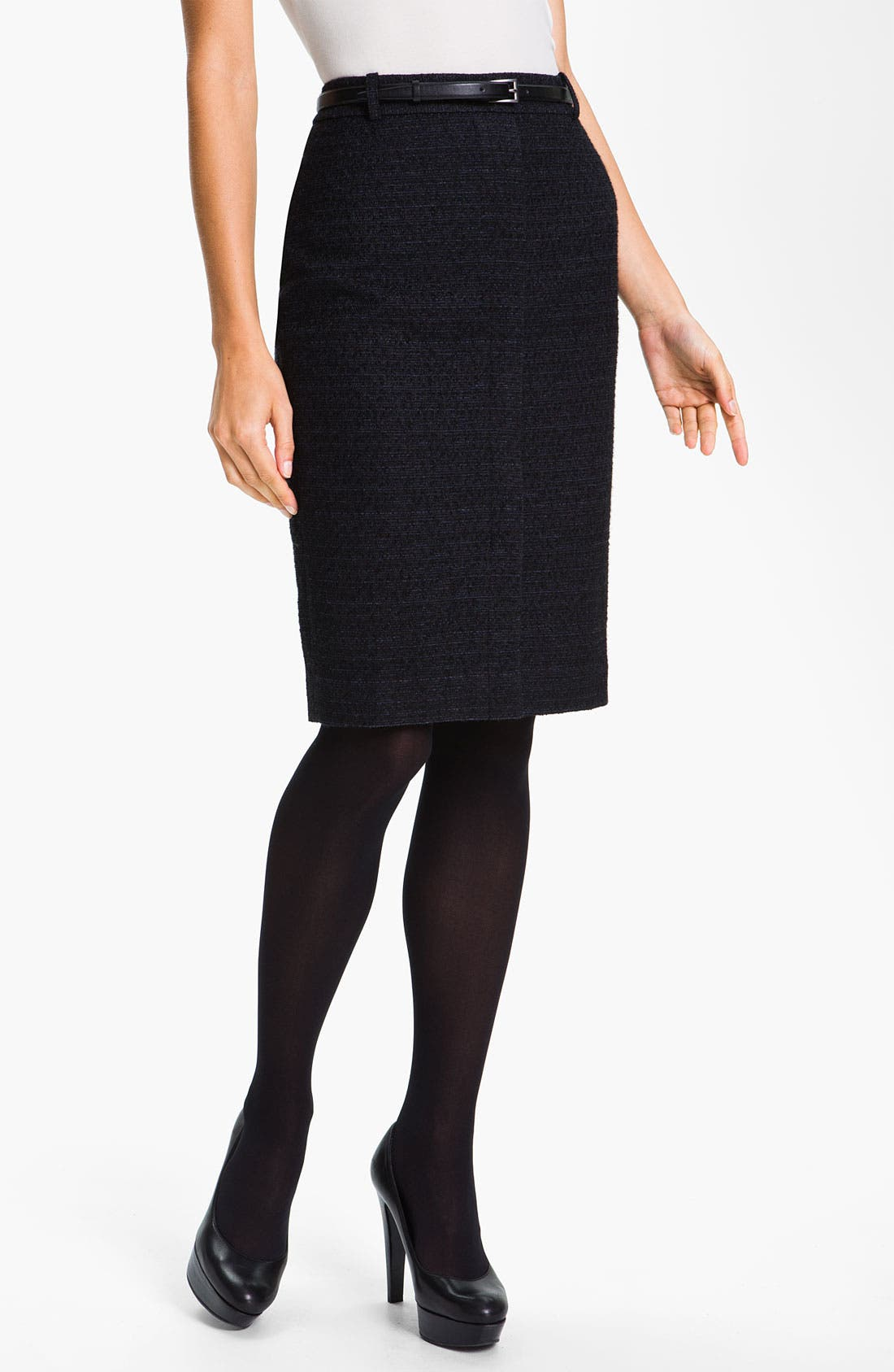 Alternate Image 1 Selected - Classiques Entier® Belted Skirt