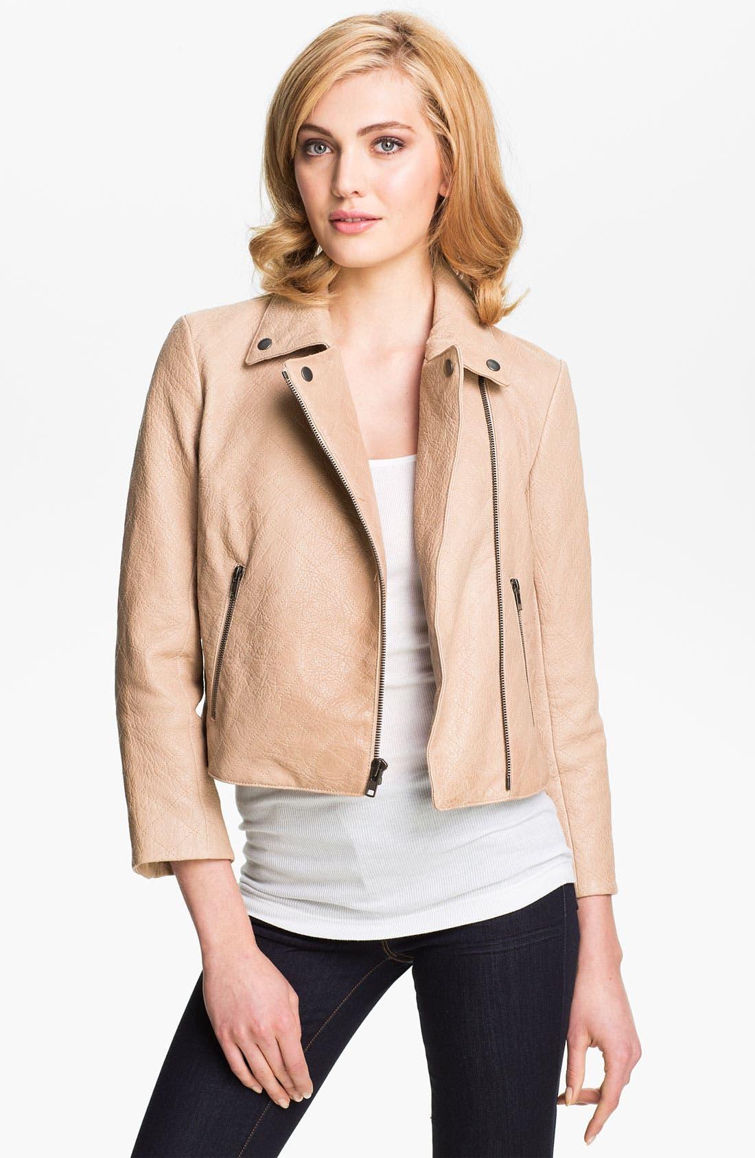 Alternate Image 2  - Theory 'Madigan - Juno' Crop Leather Jacket