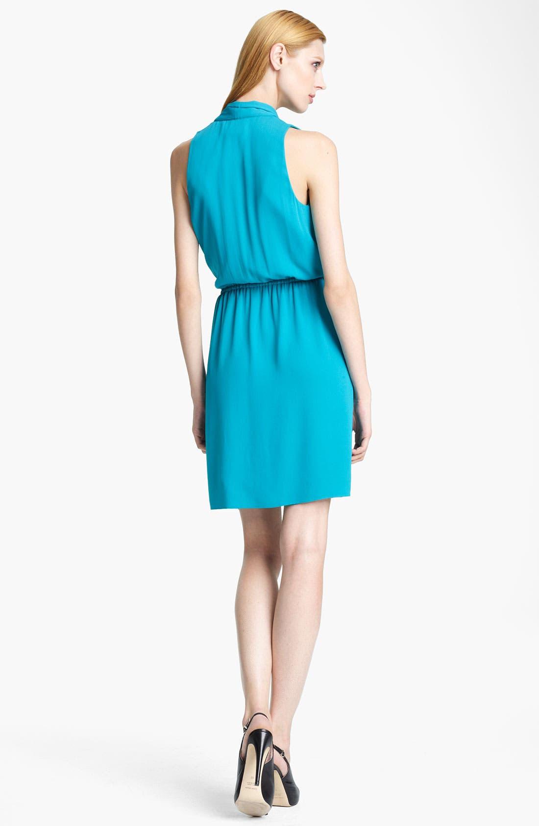 Alternate Image 2  - Armani Collezioni Silk Crepe Dress