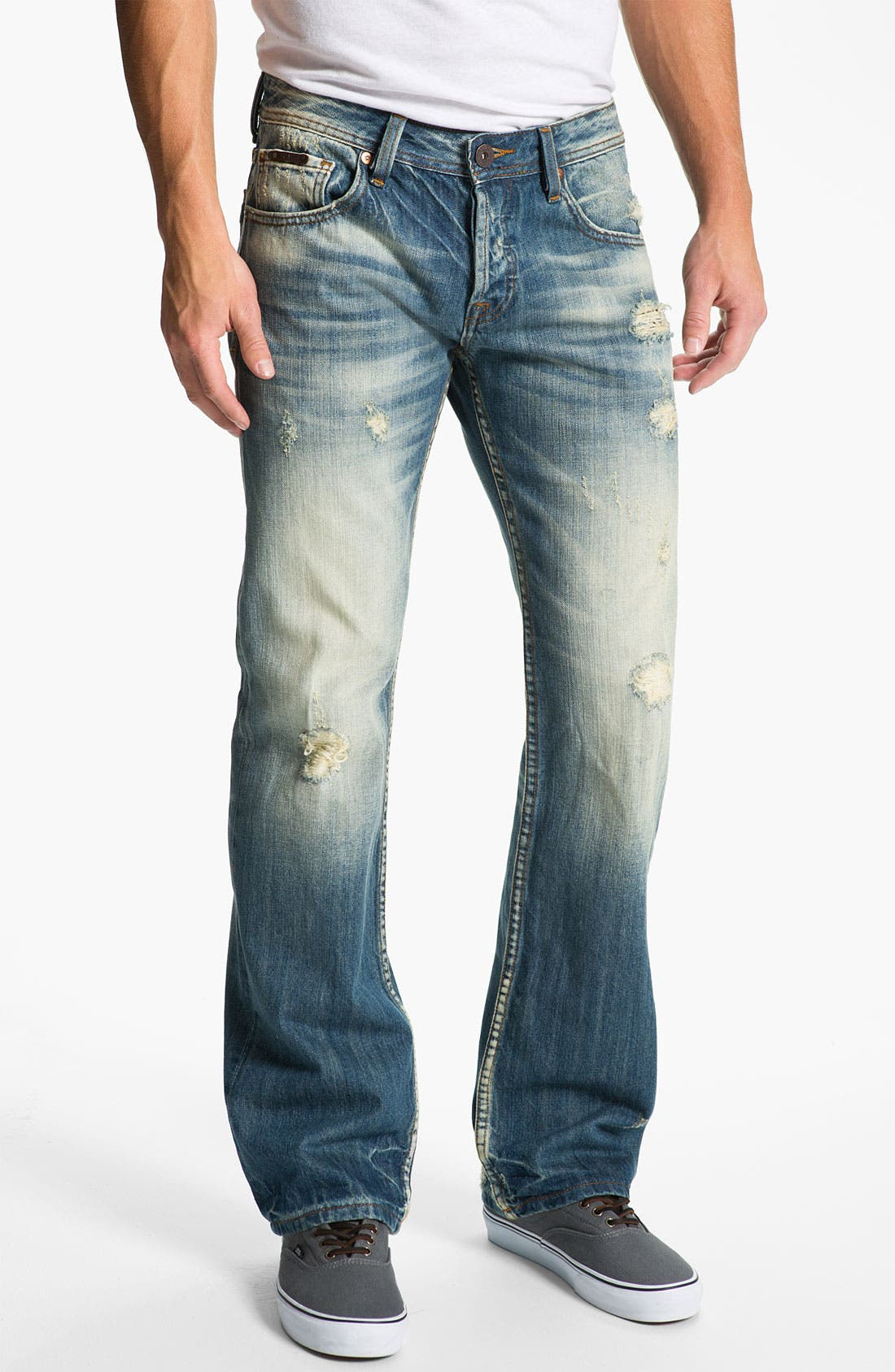 Alternate Image 2  - Cult of Individuality 'Hagen' Relaxed Straight Leg Jeans (Light Blue)