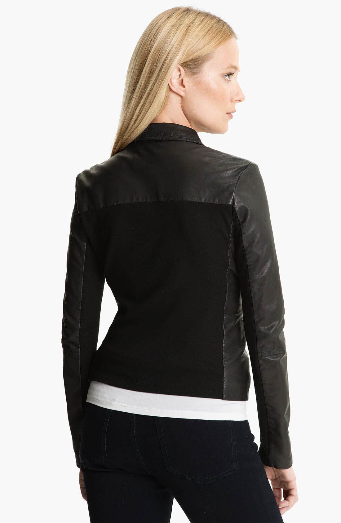Alternate Image 2  - MICHAEL Michael Kors Leather Blazer