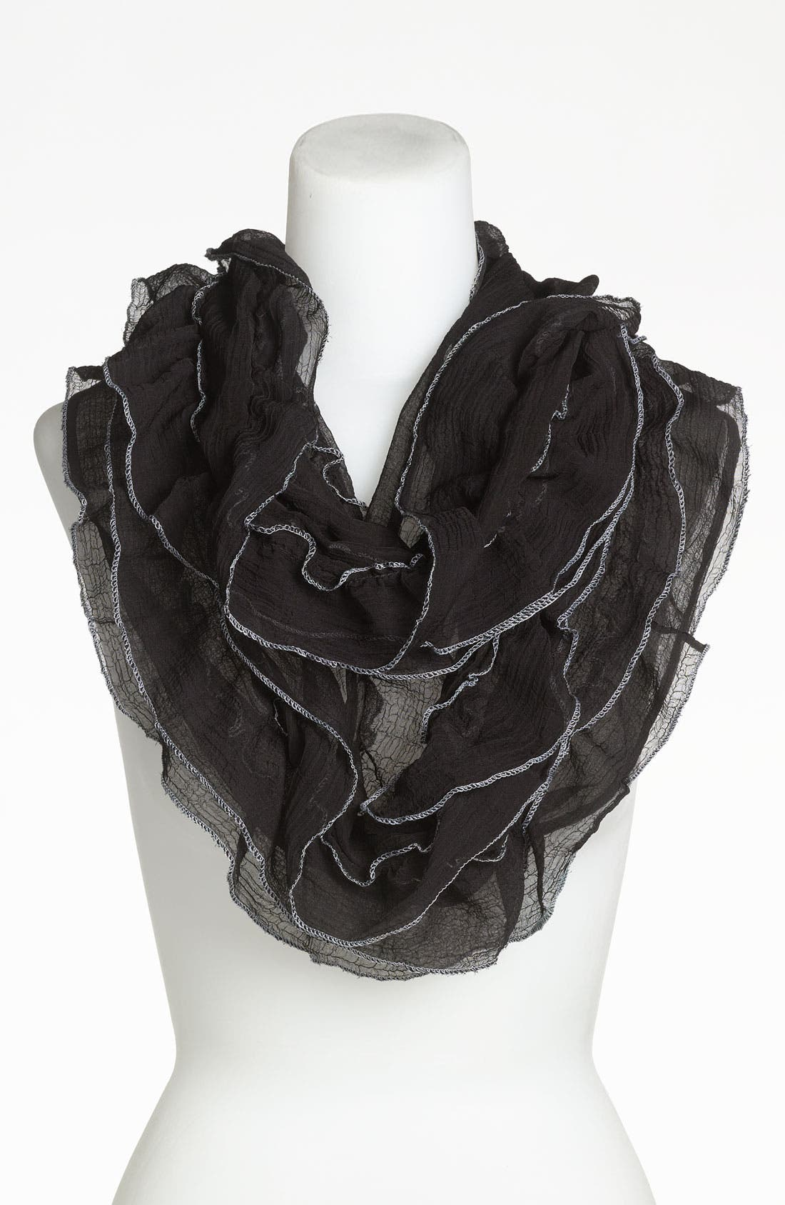 Alternate Image 1 Selected - Betsey Johnson Chiffon Ruffle Infinity Scarf