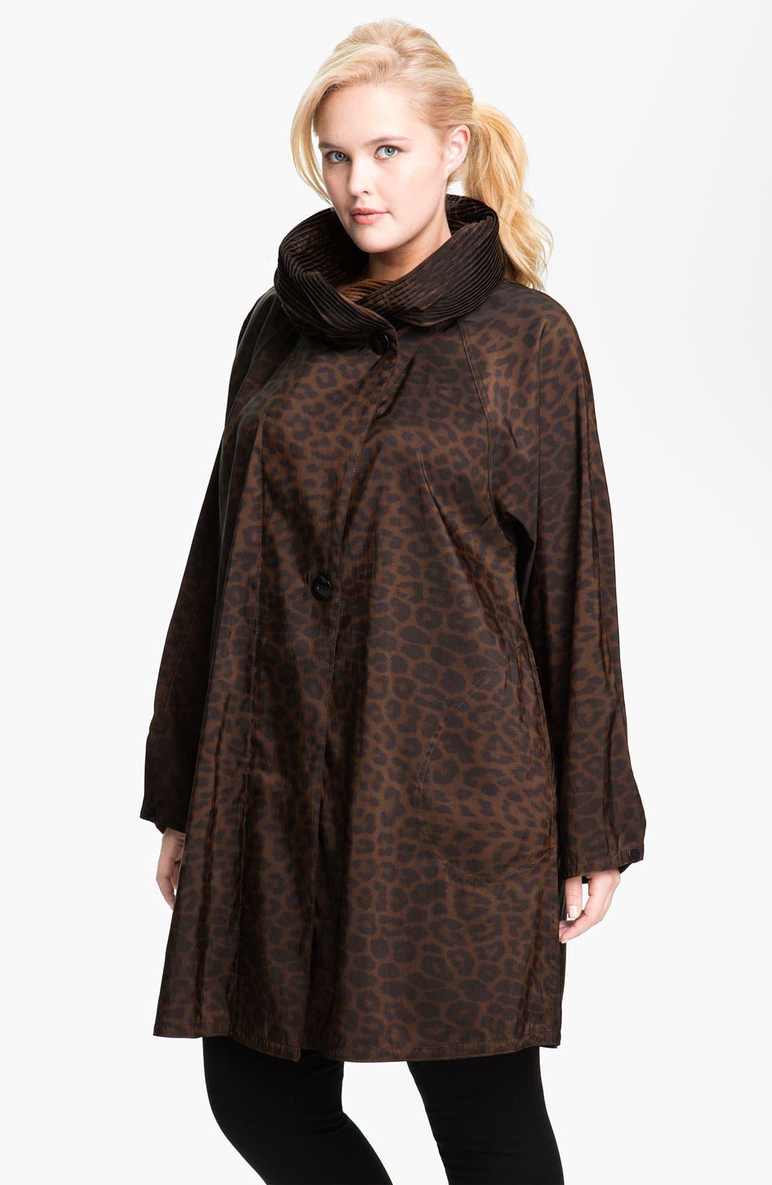 Main Image - Mycra Pac Designer Wear 'Donatella' Scrunch Neck Travel Coat (Regular & Plus)