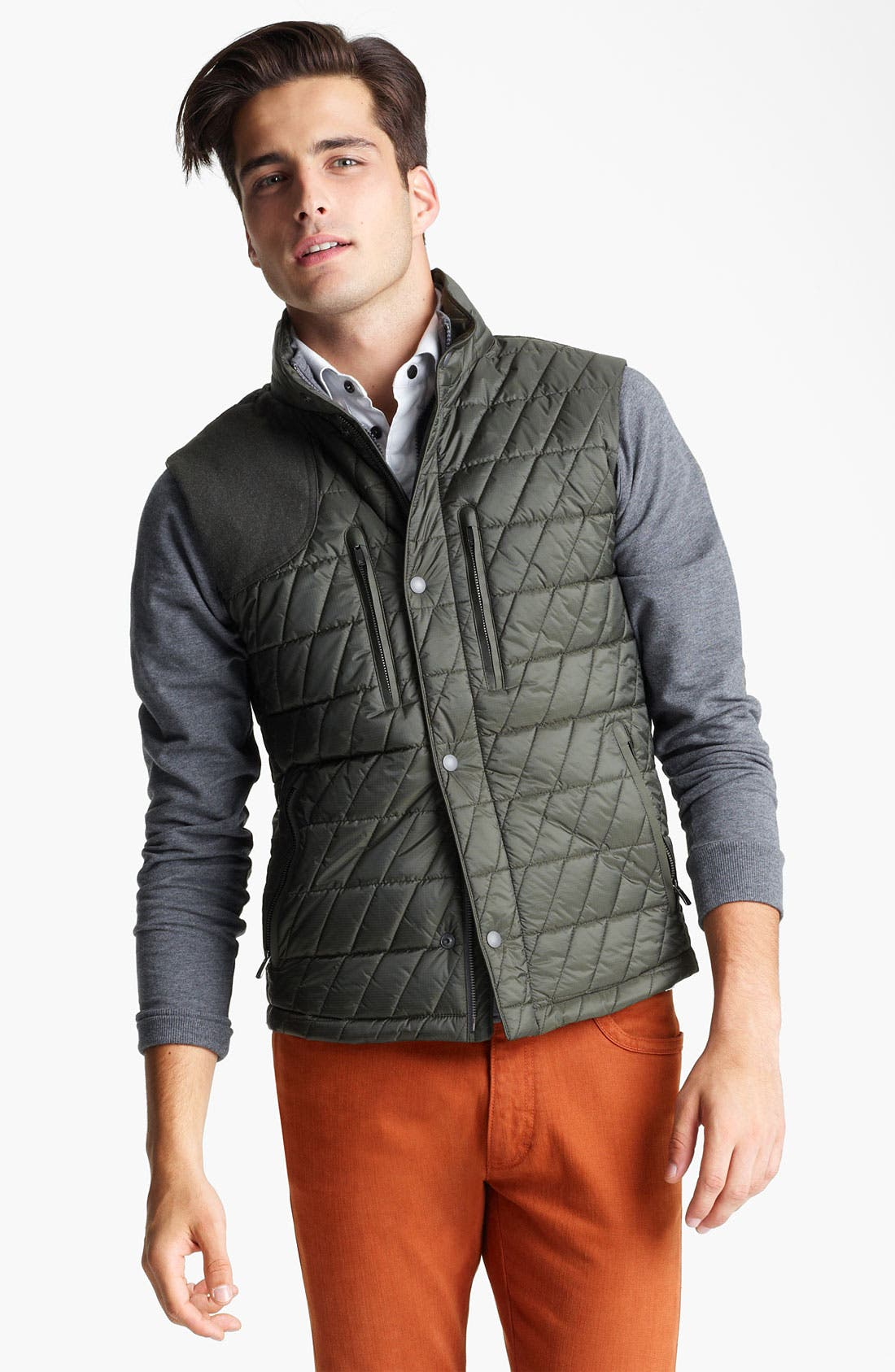Main Image - Zegna Sport 'Eco-Warmer' Quilted Thermal Vest