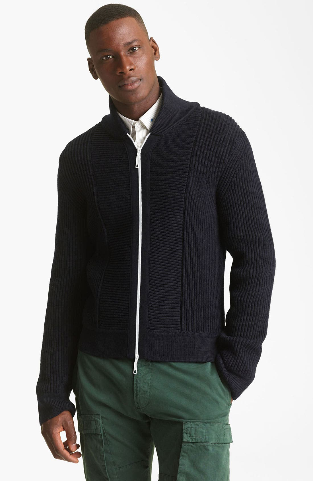 Alternate Image 1 Selected - KENZO Rib Zip Sweater