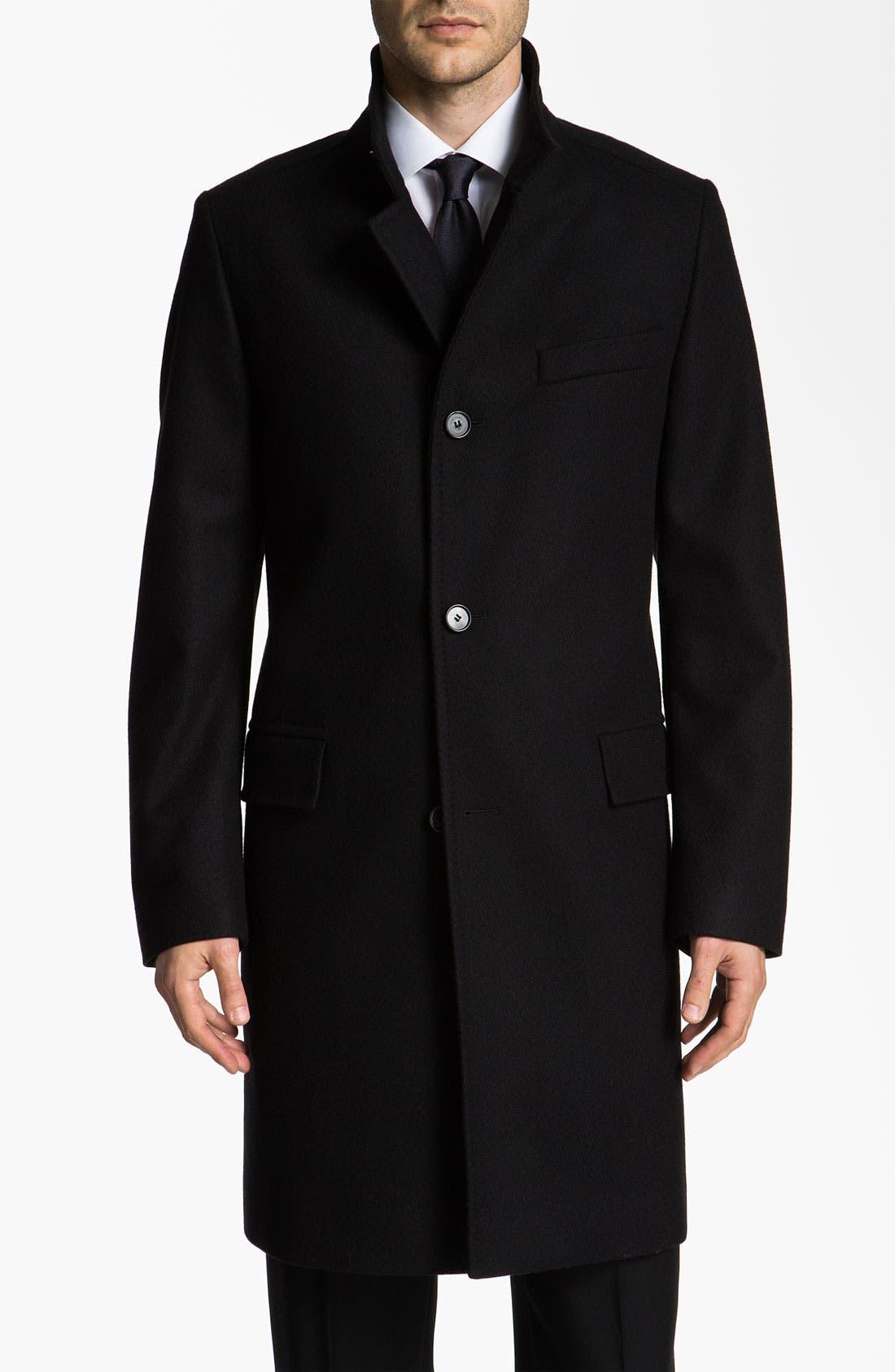 Alternate Image 1 Selected - BOSS Black 'Sintrax' Top Coat