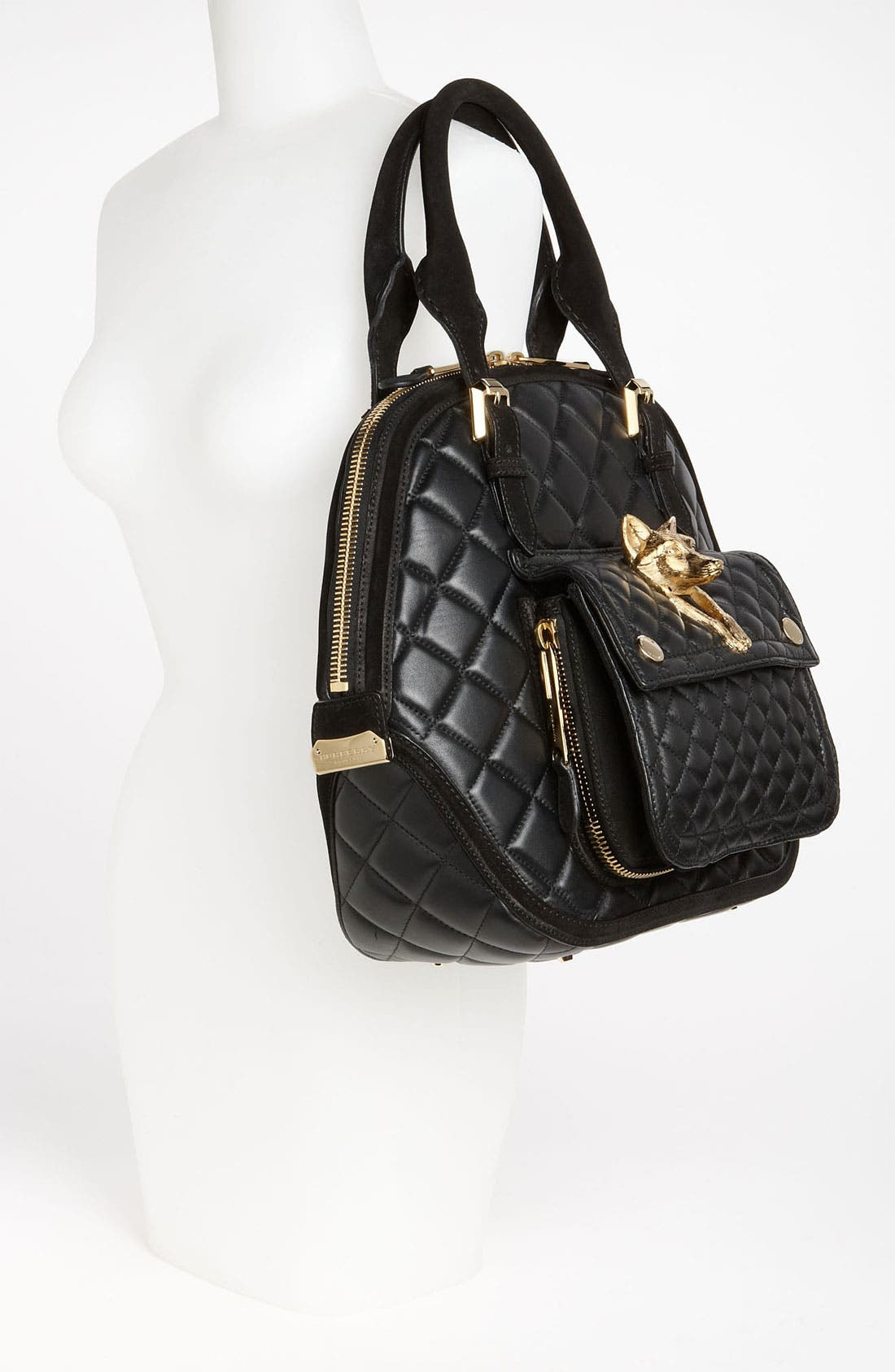 Alternate Image 2  - Burberry Prorsum Quilted Leather Satchel