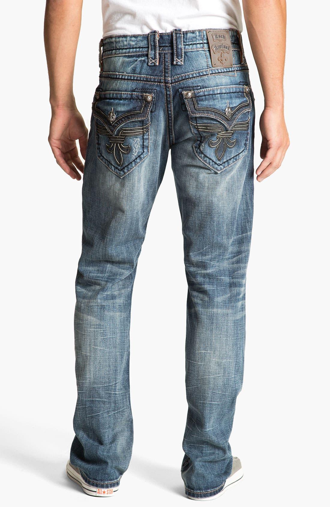 Alternate Image 1 Selected - Rock Revival 'Chopper' Straight Leg Jeans (Vintage Blue)