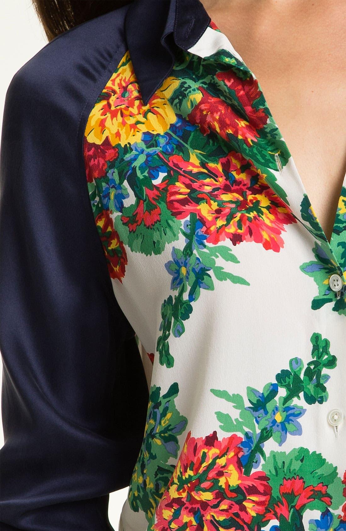 Alternate Image 3  - Equipment 'Venetian Bouquet' Silk Blouse (Online Exclusive)