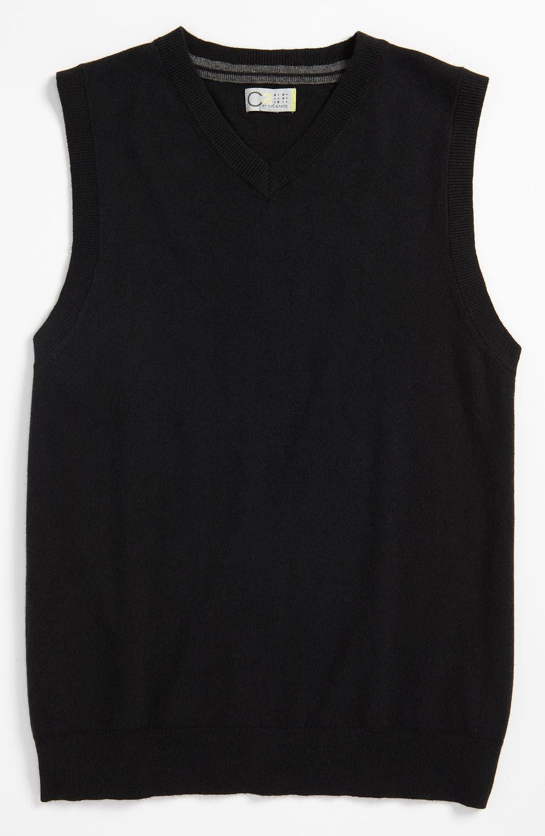 Alternate Image 1 Selected - C2 by Calibrate 'Eli' Sweater Vest (Big Boys)