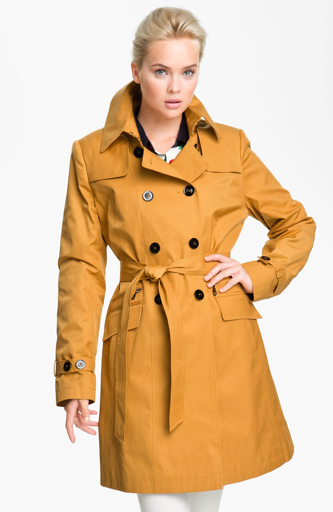 Alternate Image 1 Selected - DKNY Double Breasted Trench Coat