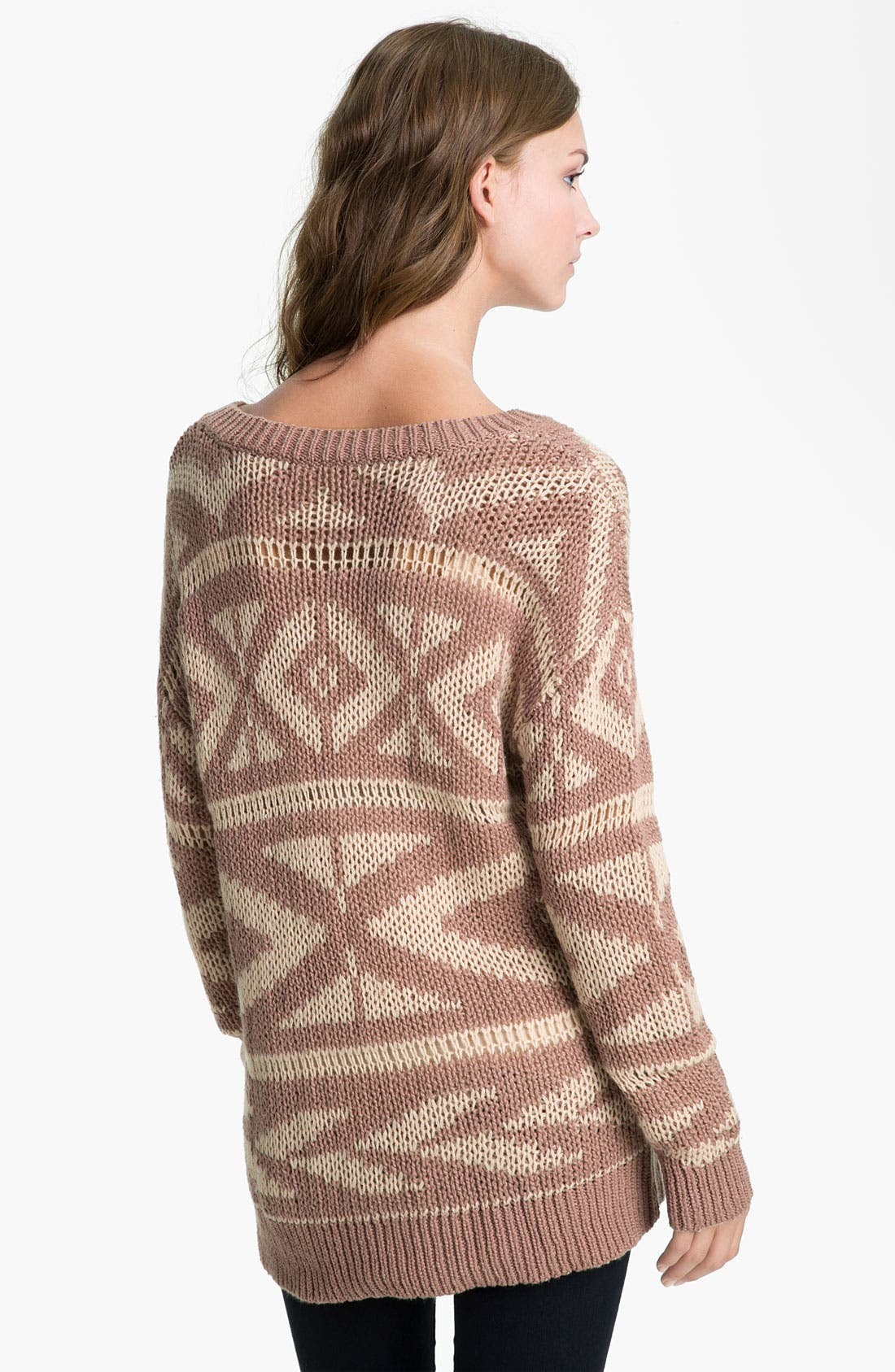 Alternate Image 2  - Rubbish® Fair Isle Sweater (Juniors)