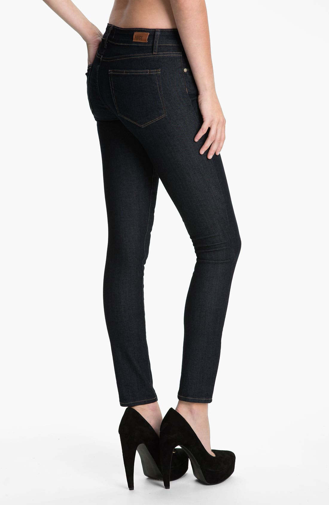 Alternate Image 2  - Paige Denim 'Verdugo' Stretch Skinny Jeans (Dark Blue)