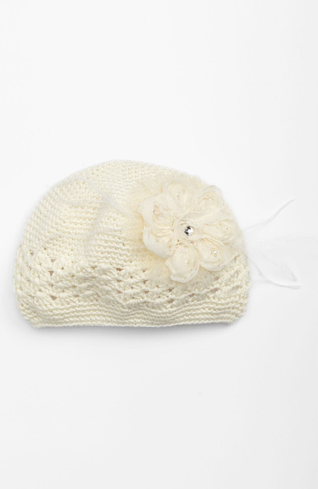Main Image - PLH Bows & Laces Crochet Hat (Baby Girls)