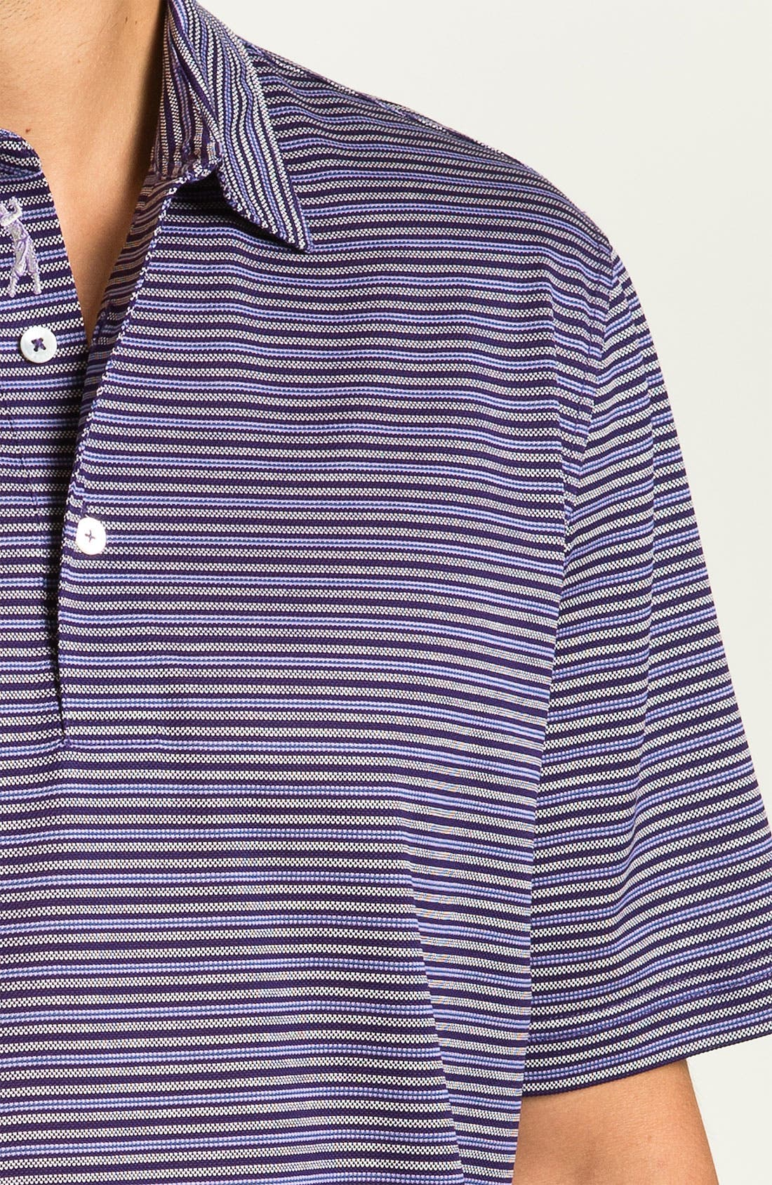 Alternate Image 2  - Bobby Jones Stripe Piqué Polo