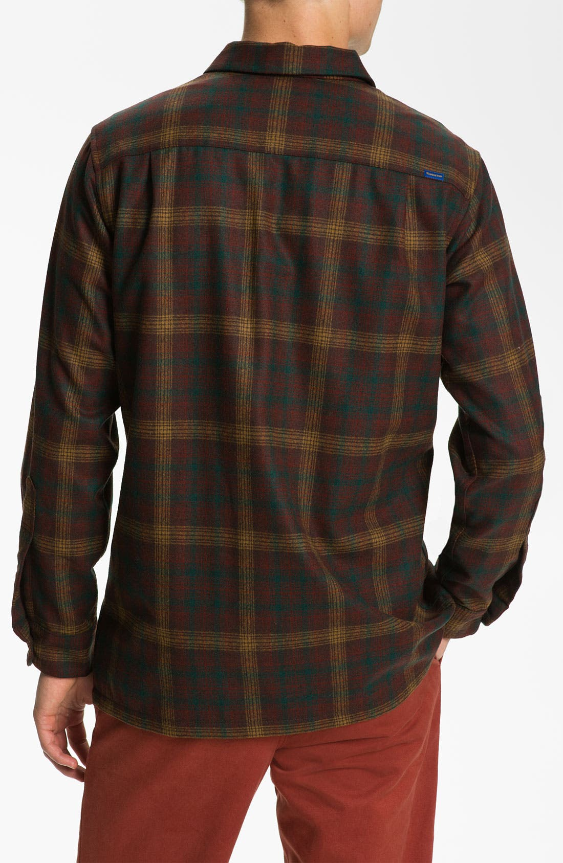 Alternate Image 2  - Pendleton 'Board' Fitted Wool Flannel Shirt