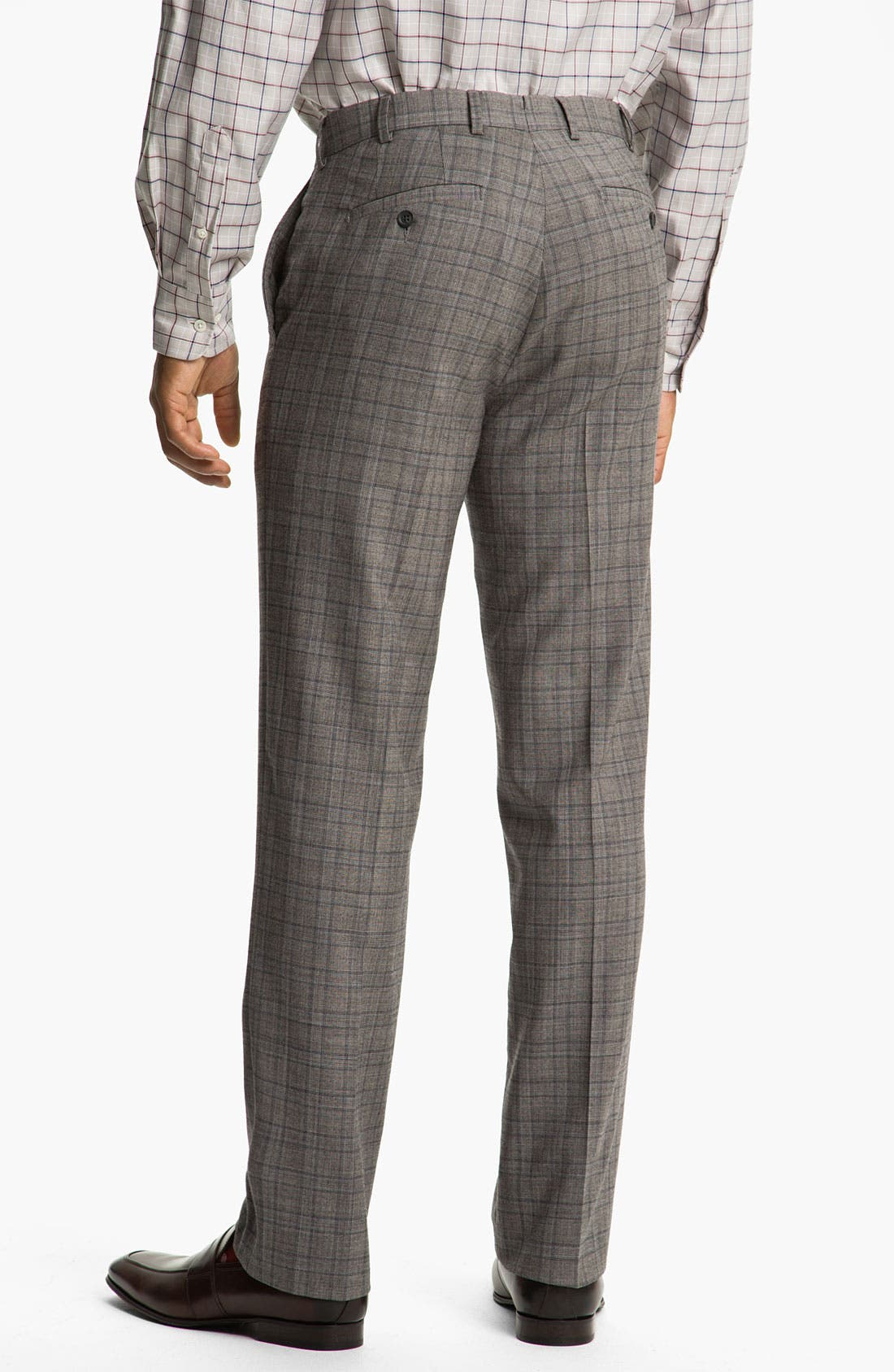 Alternate Image 2  - Peter Millar Flat Front Wool Trousers