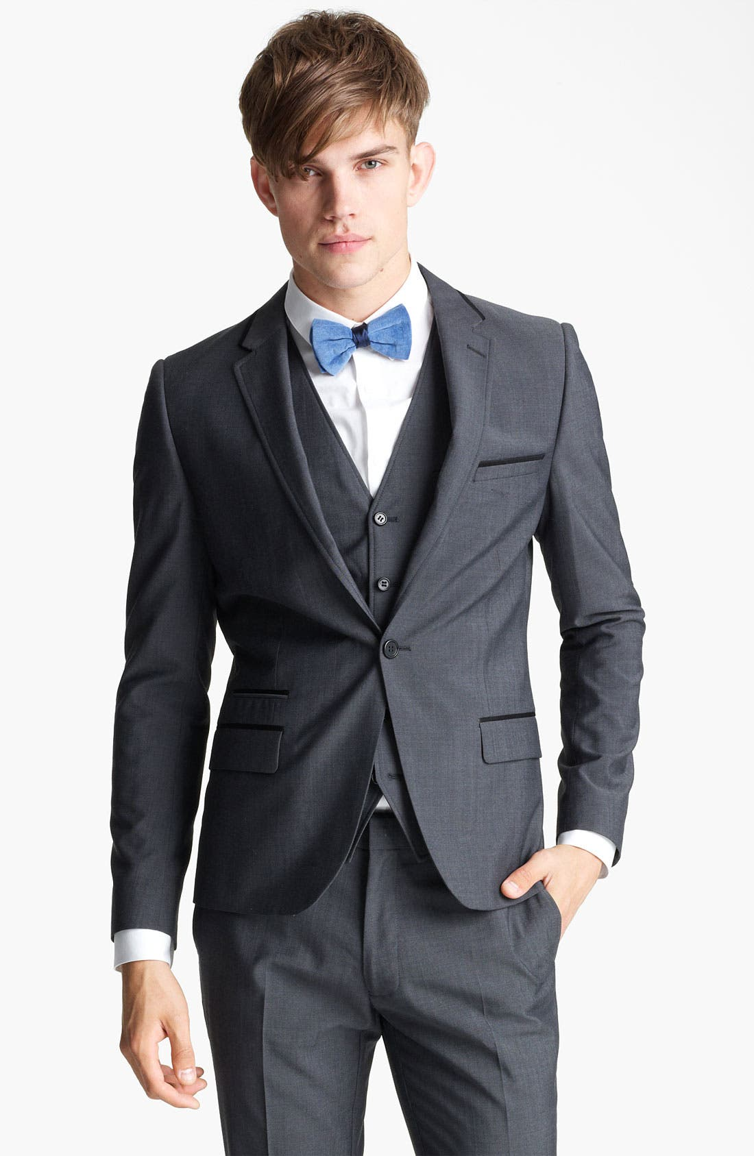 Alternate Image 1 Selected - Topman 'Novak' Skinny Blazer