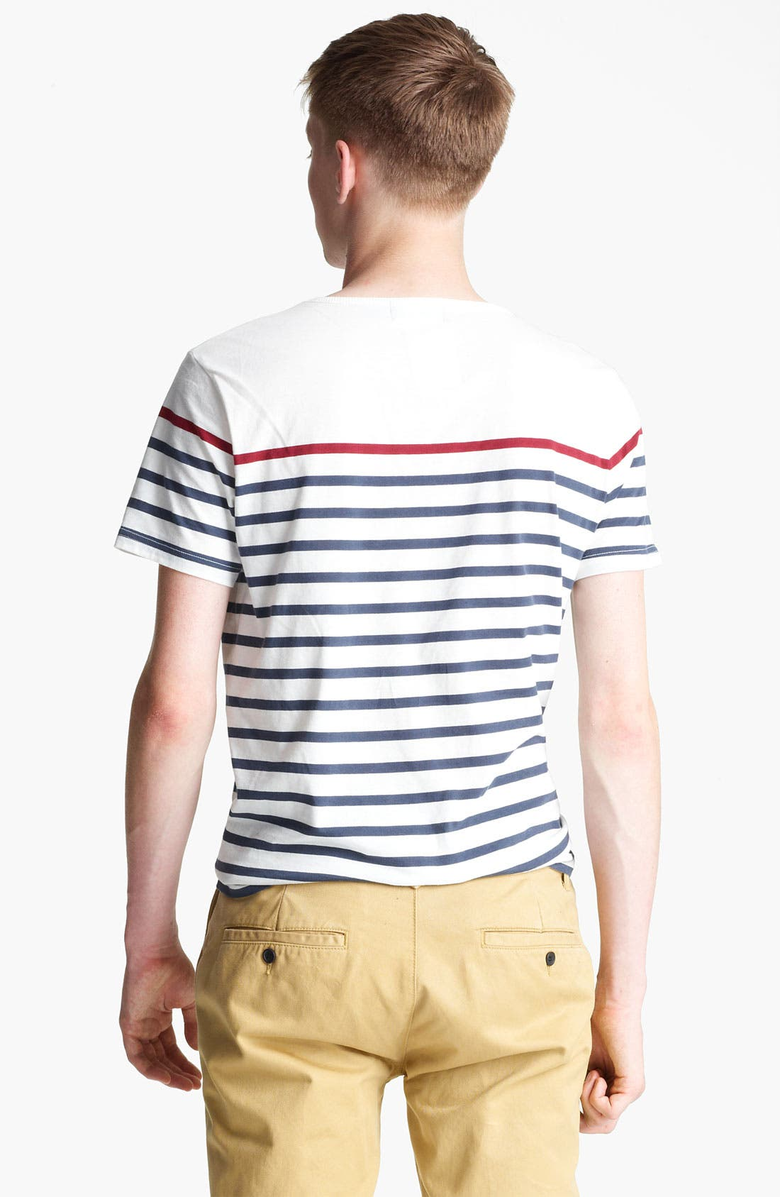 Alternate Image 2  - Topman Breton Stripe T-Shirt