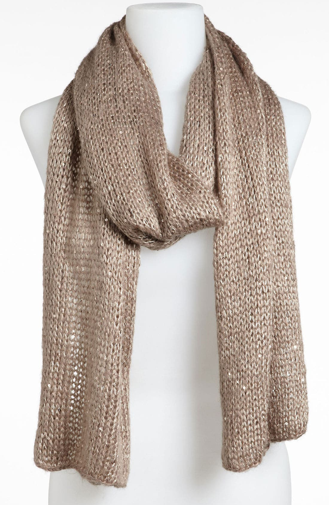 Main Image - BP. Sequin Metallic Knit Scarf