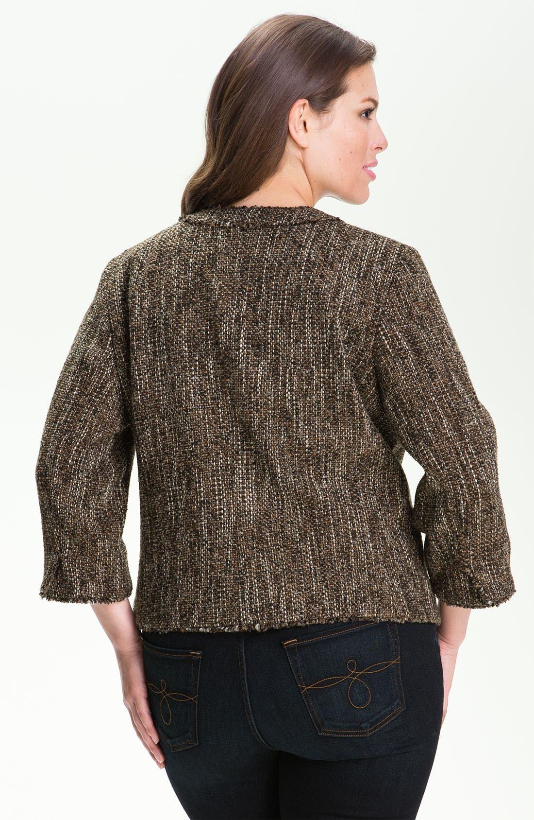 Alternate Image 2  - MICHAEL Michael Kors 'Westport' Tweed Jacket (Plus)