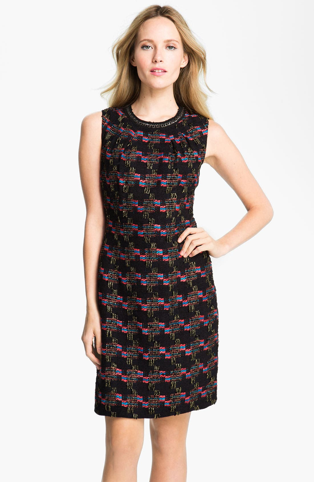 Alternate Image 1 Selected - Trina Turk 'Good Night' Tweed Sheath Dress