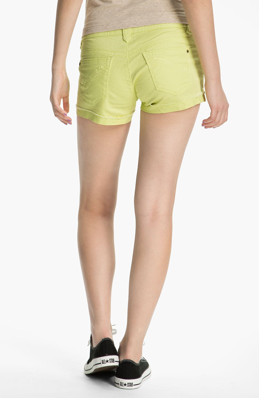 Alternate Image 1 Selected - Jolt Cuffed Shorts (Juniors)