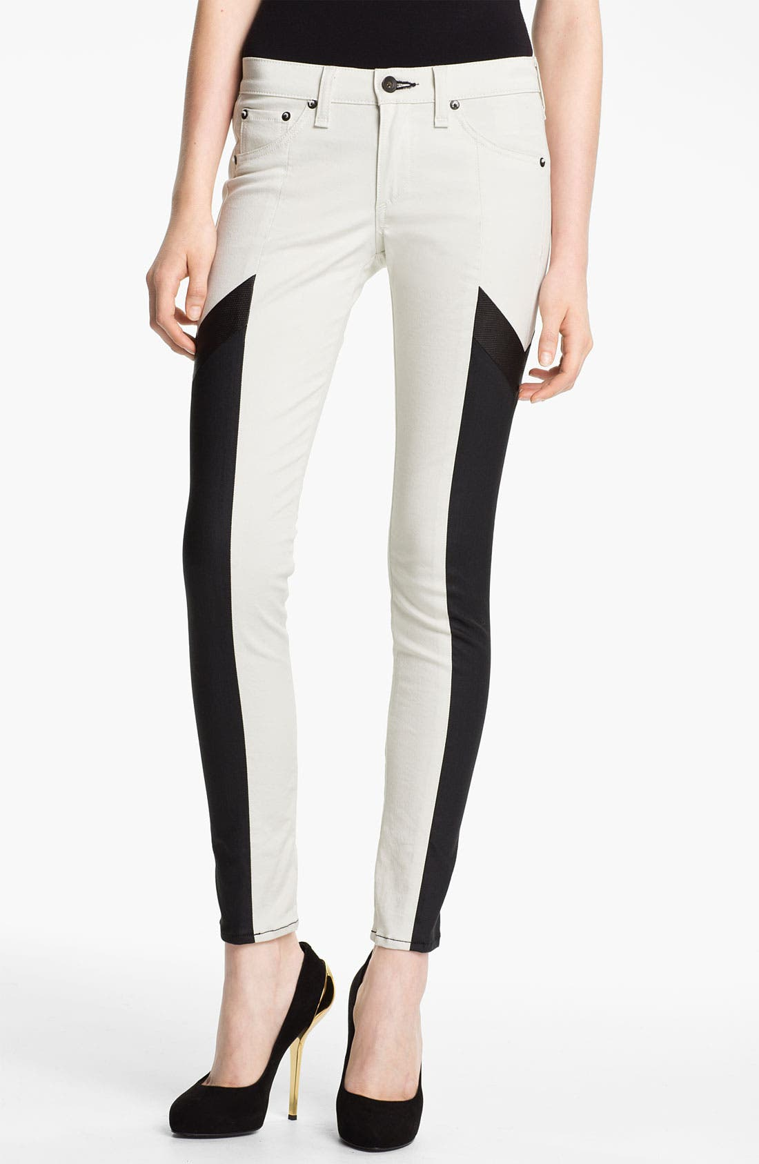 Alternate Image 1 Selected - rag & bone 'Grand Prix Motocross' Paneled Leggings