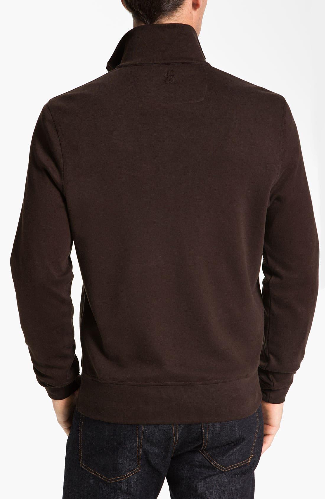 Alternate Image 2  - Robert Talbott Quarter Zip Sweatshirt