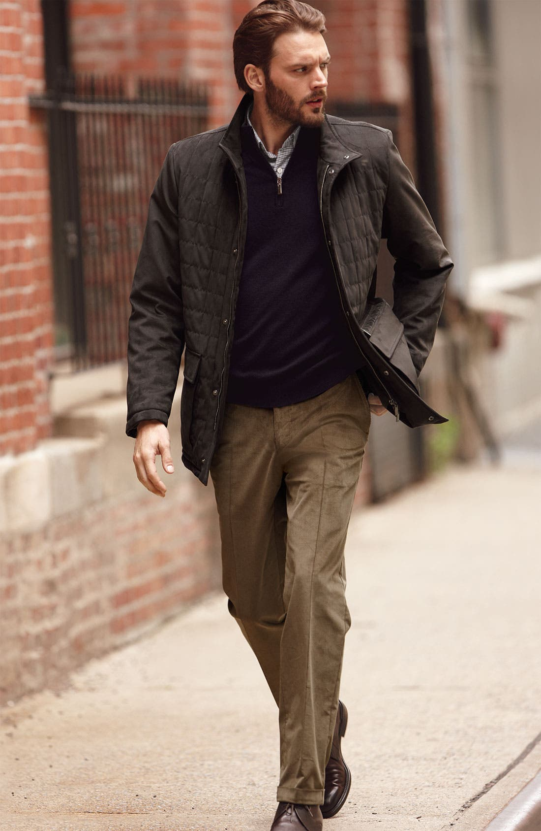 Alternate Image 4  - Canali Half Zip Merino Wool Sweater