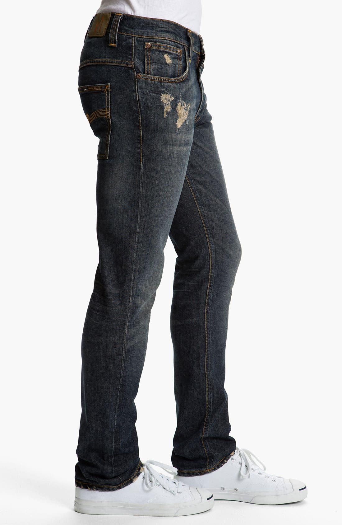 Alternate Image 3  - Nudie 'Thin Fin' Skinny Leg Jeans (Organic Well Used)
