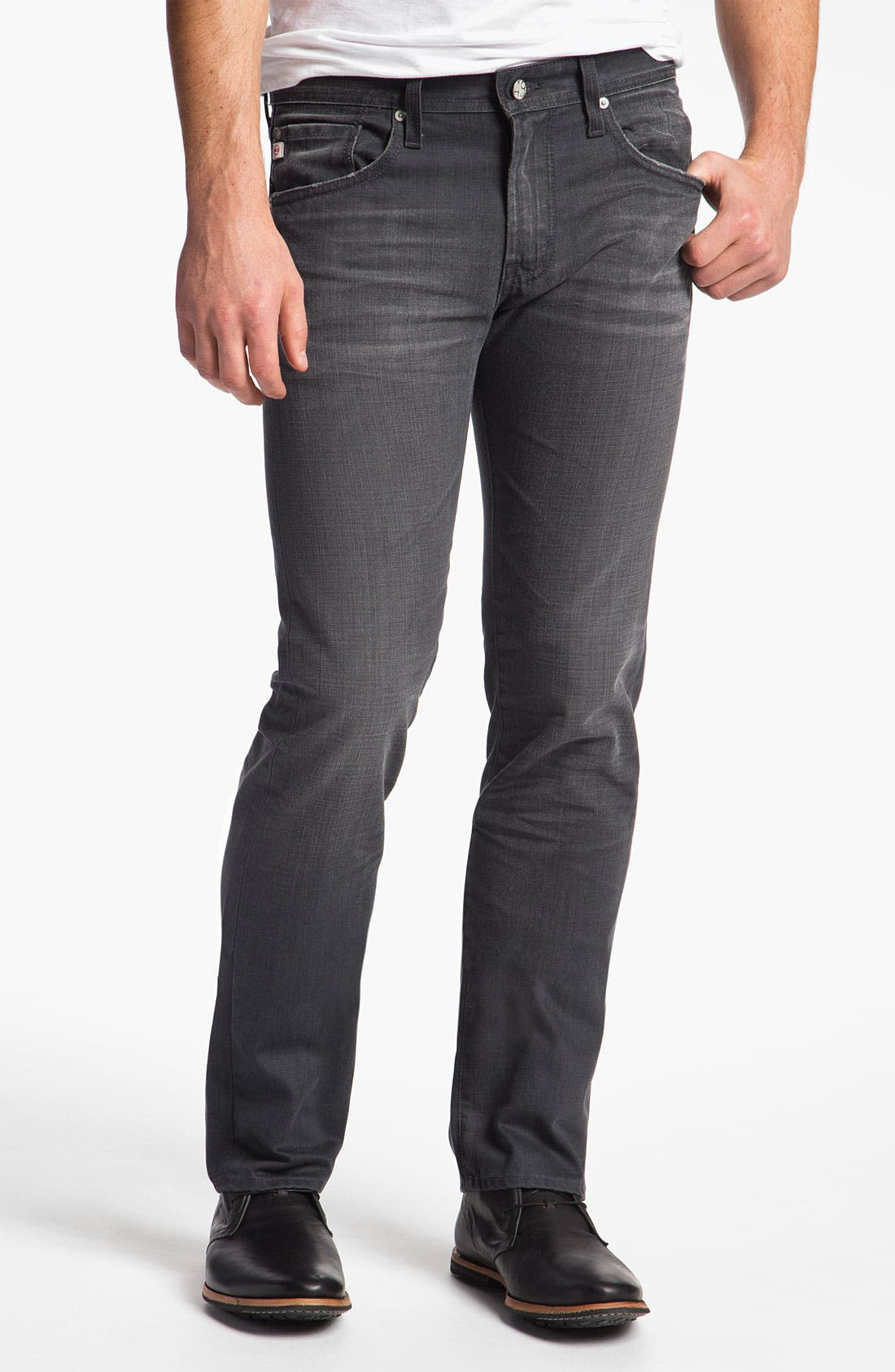 Alternate Image 1 Selected - AG Jeans 'Matchbox' Slim Straight Leg Jeans (4 Year Grey)