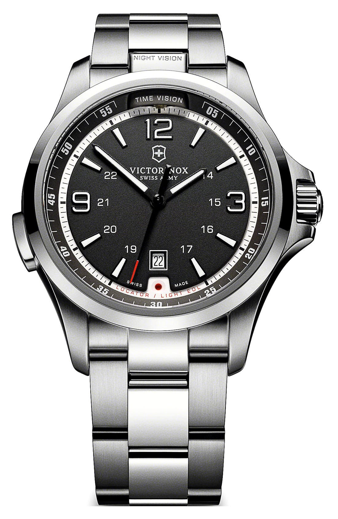 Main Image - Victorinox Swiss Army® 'Night Vision' Bracelet Watch, 42mm