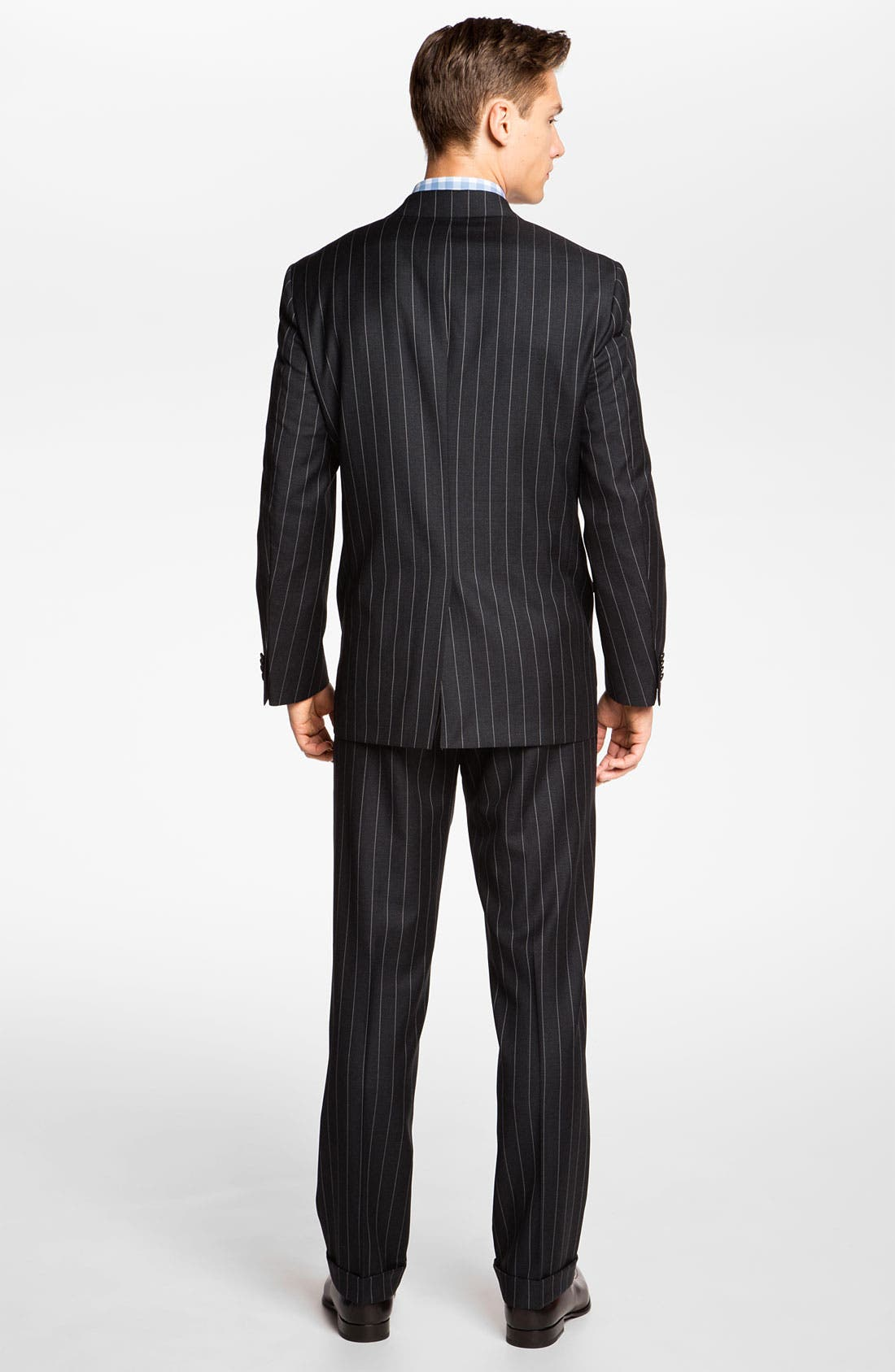 Alternate Image 3  - Hart Schaffner Marx Stripe Wool Suit