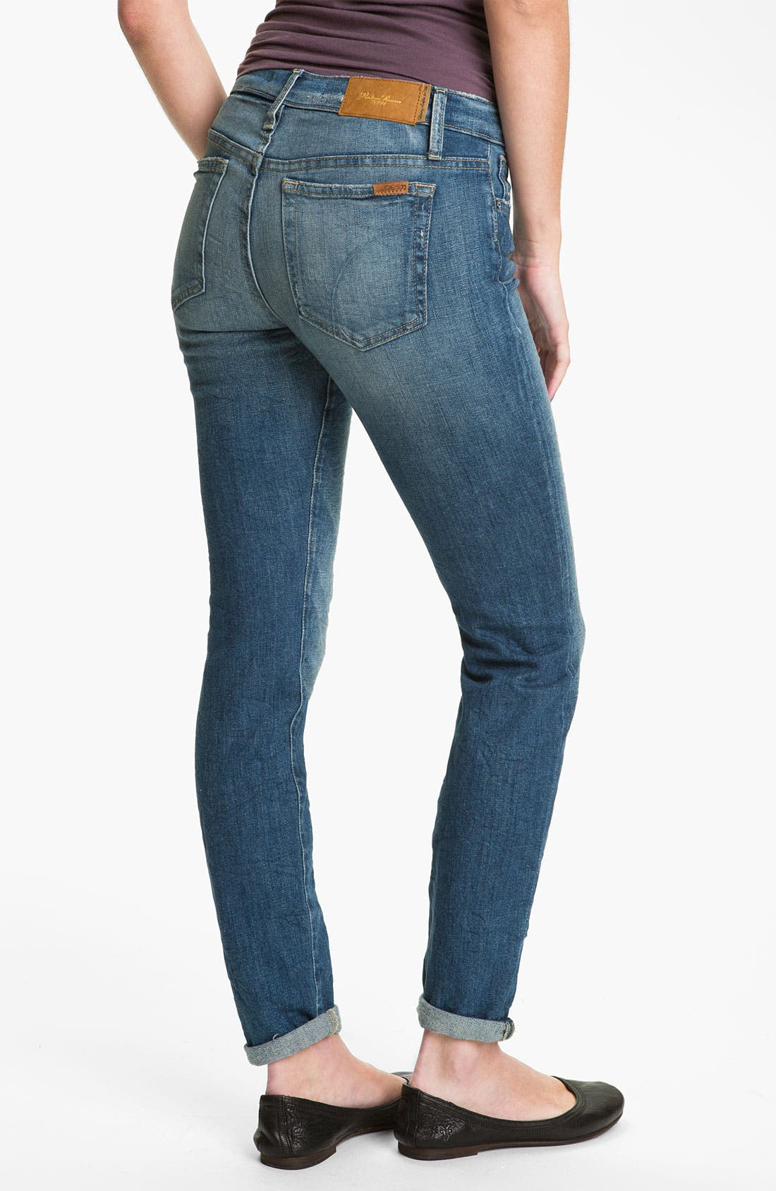 Alternate Image 2  - Joe's Distressed Skinny Stretch Jeans (Renah)