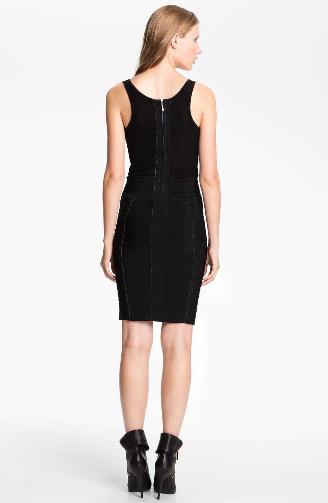 Alternate Image 2  - Cut25 Chiffon Appliqué Techno Knit Dress