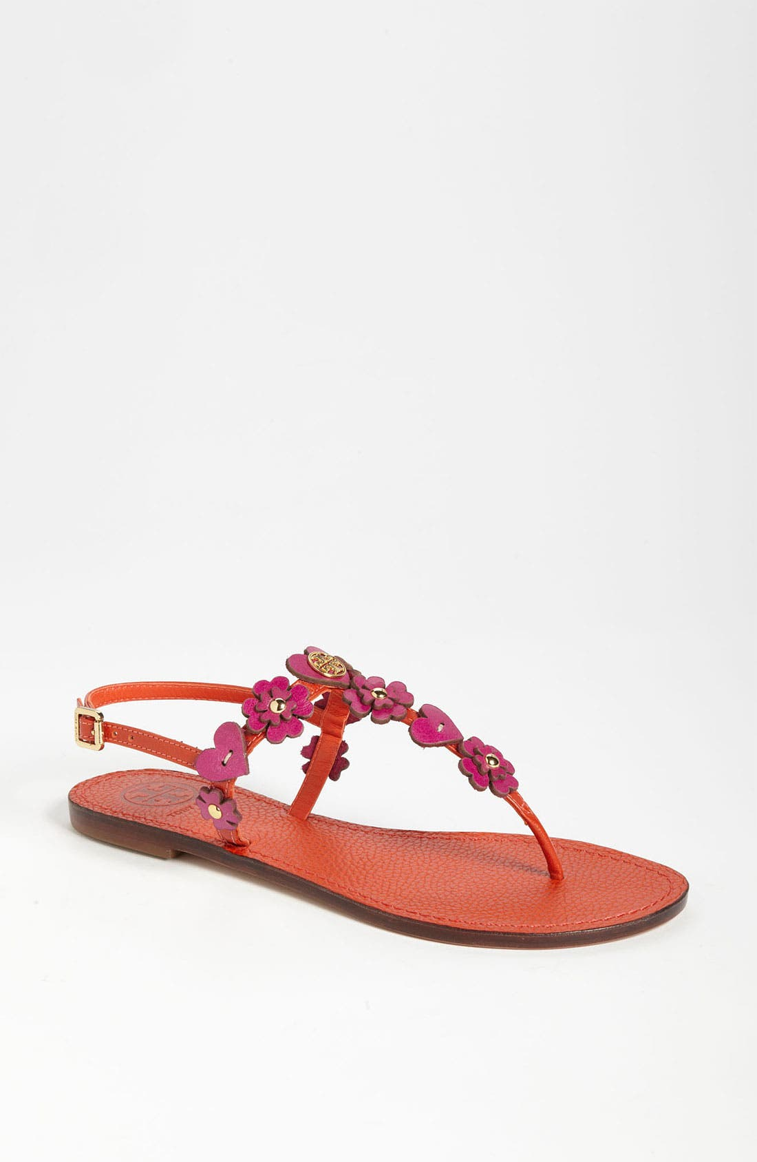 'Cori' Thong Sandal,                             Main thumbnail 1, color,                             Flame Red Party Fuchsia